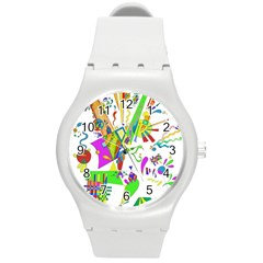 Splatter Life Plastic Sport Watch (medium) by sjart