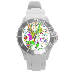 Splatter Life Plastic Sport Watch (large) by sjart