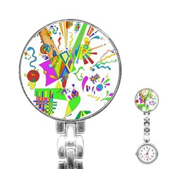 Splatter Life Stainless Steel Nurses Watch by sjart