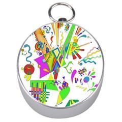 Splatter Life Silver Compass by sjart