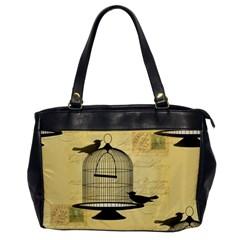 Victorian Birdcage Oversize Office Handbag (one Side) by boho