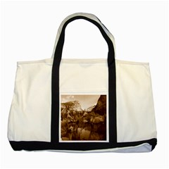 Native American Two Toned Tote Bag by boho