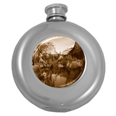 Native American Hip Flask (Round) by boho