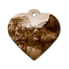 Native American Dog Tag Heart (two Sided) by boho