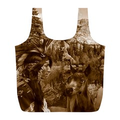 Native American Reusable Bag (l) by boho