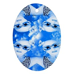 Skydivers Oval Ornament (two Sides) by icarusismartdesigns