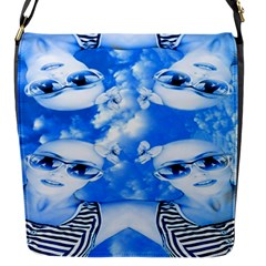 Skydivers Flap Closure Messenger Bag (small) by icarusismartdesigns