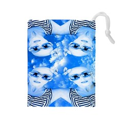 Skydivers Drawstring Pouch (large) by icarusismartdesigns