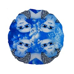 Skydivers Standard 15  Premium Flano Round Cushion  by icarusismartdesigns