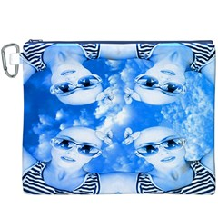 Skydivers Canvas Cosmetic Bag (xxxl) by icarusismartdesigns