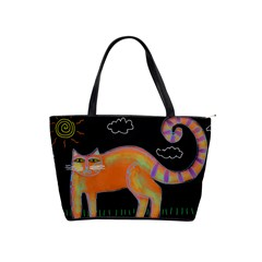 Cat With Sun Large Abstract Art Handbag  by paintedpurses