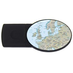 Europe USB Flash Drive Oval (4 GB) by Maps