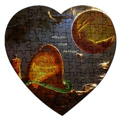 Follow Your Passion Jigsaw Puzzle (heart) by lucia