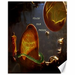 Follow Your Passion Canvas 16  X 20  (unframed) by lucia