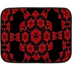 Red Alaun Crystal Mandala Mini Fleece Blanket (two Sided) by lucia