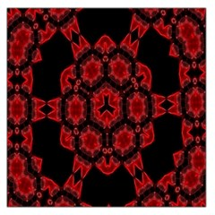 Red Alaun Crystal Mandala Large Satin Scarf (square) by lucia