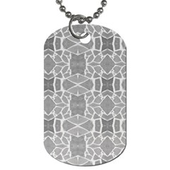 Grey White Tiles Geometry Stone Mosaic Pattern Dog Tag (two Sided)  by yoursparklingshop