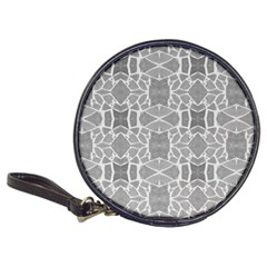 Grey White Tiles Geometry Stone Mosaic Pattern Cd Wallet by yoursparklingshop