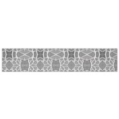 Grey White Tiles Geometry Stone Mosaic Pattern Flano Scarf (small) by yoursparklingshop