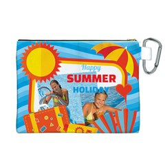 Summer By Summer Time    Canvas Cosmetic Bag (xl)   G2kzzlg2s1g3   Www Artscow Com Back
