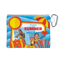 Summer By Summer Time    Canvas Cosmetic Bag (large)   Reqvohsfd508   Www Artscow Com Back