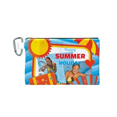 Summer By Summer Time    Canvas Cosmetic Bag (small)   Y7j2ork5k9ca   Www Artscow Com Front