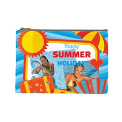 Summer By Summer Time    Cosmetic Bag (large)   M30sv3kw7w9v   Www Artscow Com Front