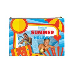Summer By Summer Time    Cosmetic Bag (large)   M30sv3kw7w9v   Www Artscow Com Back