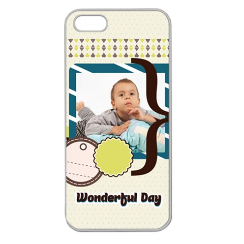 Kids By Kids   Apple Seamless Iphone 5 Case (clear)   Xpicvhnr5jnl   Www Artscow Com Front