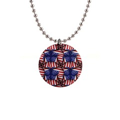 4th Of July Modern Pattern Print Button Necklace by dflcprintsclothing