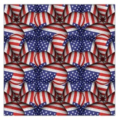 4th Of July Modern Pattern Print Large Satin Scarf (square) by dflcprintsclothing