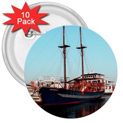 Travel 3  Button (10 Pack) by infloence