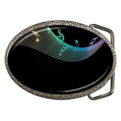 Musical Wave Belt Buckle (oval) by urockshop