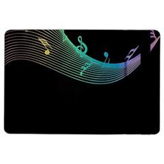 Musical Wave Apple Ipad Air 2 Flip Case by urockshop
