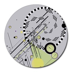 Abstract Geo 8  Mouse Pad (round) by infloence