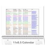 vetter calendar 15-16 - Wall Calendar 11  x 8.5  (12-Months)