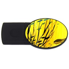 Yellow Dream 4gb Usb Flash Drive (oval) by pwpmall
