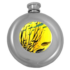 Yellow Dream Hip Flask (Round) by pwpmall