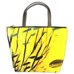 Yellow Dream Bucket Handbag by pwpmall