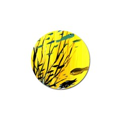 Yellow Dream Golf Ball Marker 4 Pack by pwpmall
