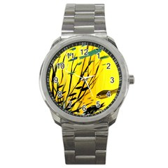 Yellow Dream Sport Metal Watch by pwpmall