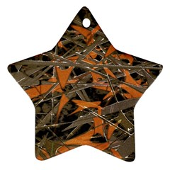 Intricate Abstract Print Star Ornament by dflcprints