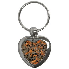 Intricate Abstract Print Key Chain (heart) by dflcprints