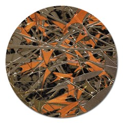 Intricate Abstract Print Magnet 5  (round) by dflcprints