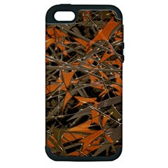 Intricate Abstract Print Apple Iphone 5 Hardshell Case (pc+silicone) by dflcprints