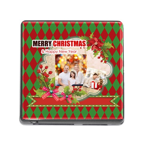 Xmas By Xmas   Memory Card Reader (square)   F2oas0z0z3wo   Www Artscow Com Front