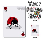 Ladybug Lunch, California bugs - deck 1 of 2 - Multi-purpose Cards (Rectangle)