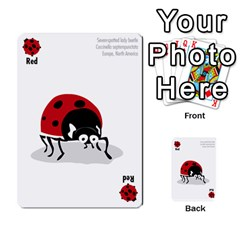 Ladybug Lunch, California Bugs   Deck 1 Of 2 By Marianne Waage   Multi Purpose Cards (rectangle)   V1zeet0ftawk   Www Artscow Com Front 2