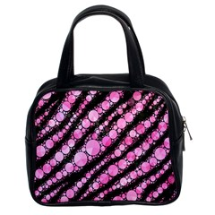 Pink Black Tiger Bling  Classic Handbag (two Sides) by OCDesignss