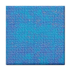 Textured Blue & Purple Abstract Ceramic Tile by StuffOrSomething